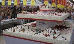 Pārspēts Latvijā uzceptās smagākās tortes rekords