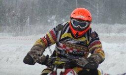 Fotoreportāža: Latvijas čempionāta ziemas motokrosā otrais posms