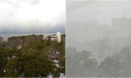 Foto: Jūrmalu ieskauj sniegputenis