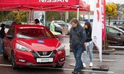 Foto: 'Latvijas Gada auto' testu diena pie lielveikala 'Mols'