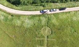 Video: Dīvainas 'citplanētiešu zīmes' kādā Latvijas pļavā