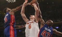 Porziņģa 33 punkti neglābj 'Knicks' no otrā zaudējuma