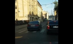 ВИДЕО: BMW объезжает пробку по встречной полосе