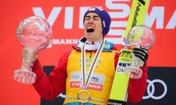 Austriešu tramplīnlēcējs Krafts uzvar arī sezonas noslēdzošajās sacensībās, iegūstot Pasaules kausu