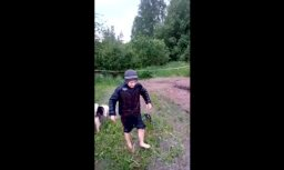 Video: Ilzenes pagastā divās stundās pārplūst dīķis un applūst dārzs
