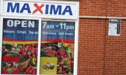 Foto: Lielbritānijā uzradies veikala 'Maxima' viltvārdis