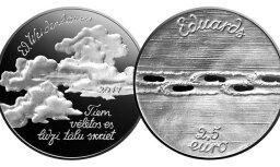 Foto: Latvijas Banka izlaiž Veidenbaumam veltītu kolekcijas monētu komplektu