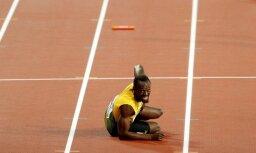 Foto un video: Bolta pēdējais neveiksmīgais sprinta skrējiens atvadu PČ
