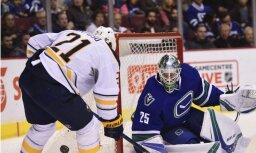 Girgensonam un 'Sabres' neizdodas apturēt 'Canucks'