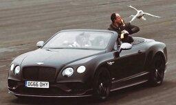 Video: Ar 'Bentley' izmēra piekūna lidošanas maksimālo ātrumu