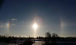 Foto: Daugavpils novadā novērots iespaidīgs Saules halo