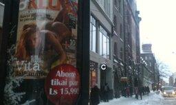 Erotiska reklāma pie Rīgas 40.vidusskolas