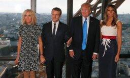 Tramps slavē Francijas pirmās lēdijas labo formu