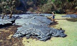 На Гавайях после извержения вулкана прошел дождь из драгоценных камней
