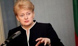 Lietuvas prezidente neapsveiks Putinu ar uzvaru vēlēšanās