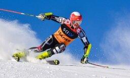 Kalnu slēpotājs K.Zvejnieks septītais Baltijas kausa sacensībās milzu slalomā