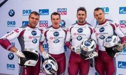 Bobsleja pilots Melbārdis uzvar arī trešajās sacensībās Eiropas kausa posmā Sanktmoricā