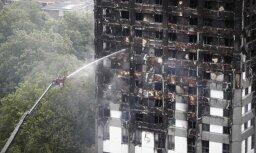 Vismaz 60 daudzstāvu nami Lielbritānijā apšūti ar ugunsnedrošu materiālu