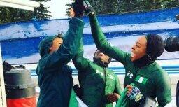Pirmo reizi Āfrika olimpiskajā bobslejā – Nigērijas sportistes ieraksta savu vārdu vēsturē