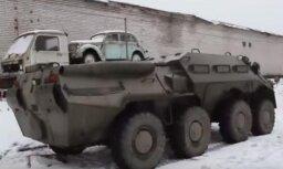 ВИДЕО: В России двое мужчин пытались убежать от полиции на БТР