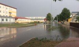 Aculiecinieka foto: Otrdien Ventspili piemeklējuši plūdi