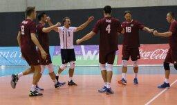 ФОТО: Волейболисты Латвии пробились в стыковые матчи за путевку на ЧЕ