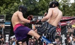 Foto: Grīziņkalna ringā cīkstoņi aizvada 'Ghetto Fight' cīņas