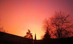 Foto: 'Delfi' lasītāji iemūžina krāšņu saullēktu