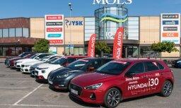Iespēja katram izmēģināt jaunākos auto 'Latvijas Gada auto' testu dienā Molā
