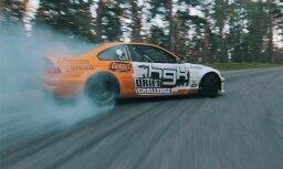 Video: Amerikāņu drifteris Biķernieku trasē ar BMW