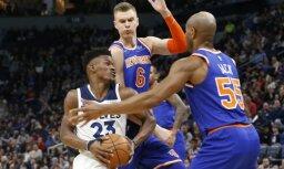 Porziņģa 'double-double' neglābj 'Knicks' no kārtējā zaudējuma izbraukumā