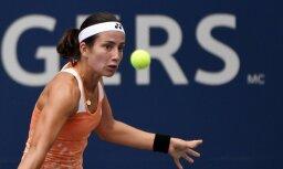 Sevastova atzīst Stīvensas pārākumu Monreālas WTA 'Premier' turnīra ceturtdaļfinālā