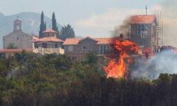 На курортах Хорватии и Черногории бушуют лесные пожары