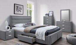 Кровать с выдвижными ящиками и ящиком для белья — это еще одно место хранение вещей