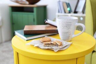 Kad telpas platība neļauj izpausties – idejas nelieliem kafijas galdiņiem viesistabā