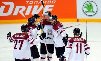 Latvijas hokejisti mačā ar Kazahstānu centīsies nodrošināt palikšanu elitē