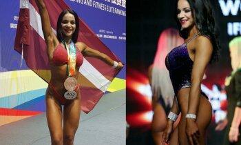 Fitnesa modele Samanta par ceļu uz čempiones titulu un iznācieniem peldkostīmā