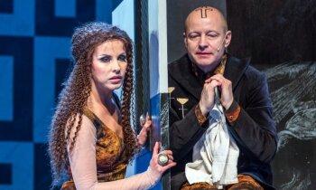 Izrādes apskats: Agneses Zeltiņas atgriešanās uz teātra skatuves - 'Milēdijas izraidīšana'