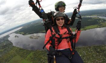 Kad debesis ir stihija. Paraplāna pilotes Ineses stāsts par adrenalīna ķeršanu mākoņos