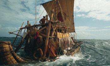 Atskats vēsturē: Niedru laivā 6100 kilometrus pāri Atlantijai