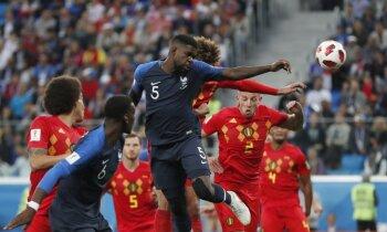 Francijas futbolisti trešo reizi 20 gadu laikā iekļūst Pasaules kausa finālā