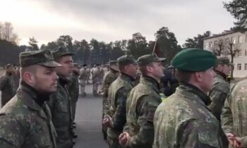 Video: Latvijas drošības sargiem pievienojas Slovākijas karavīri