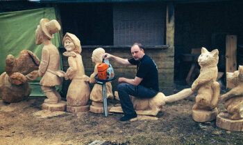 Zāģera Viļņa koka zvēru pasaule: 'Kaut kāds čujs man ir!'