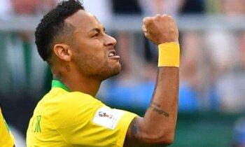 Neimars ar vārtiem un rezultatīvu piespēli ieved Brazīliju ceturtdaļfinālā