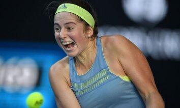 Ostapenko pēc Viljamsas zaudējuma debitēs WTA ranga piecniekā