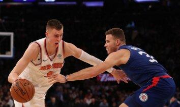 Porziņģis ar 25 punktiem kaldina 'Knicks' uzvaru pār šīs sezonas neveiksminieci 'Clippers'