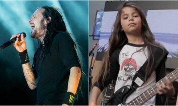 'Korn' uz turneju uzaicina 'Metallica' basista 12 gadus veco dēlu