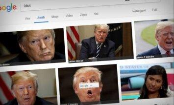 Iegūglējot 'idiots', pirmā 'izlec' Trampa seja