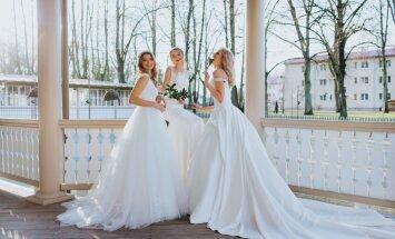 Foto: Kāzu modes zīmola 'Ingrida Bridal' jaunā līgavu kleitu kolekcija