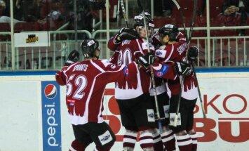 'Rīgas' hokejisti vēlreiz uzvar MHL vājāko komandu 'Dinamo-Raubiči'